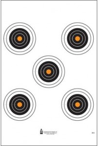 5 Bull's-Eye Target with Orange Centers